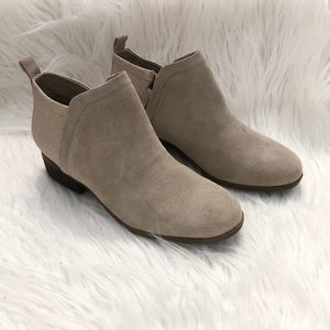 Toms Tan Suede Glitter Ankle Boots